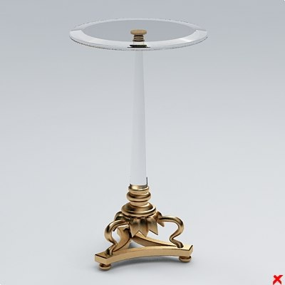 3d table glass