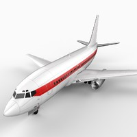 737-200 generic 3d 3ds