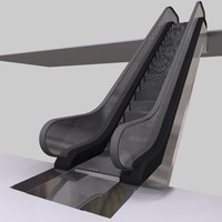 3d escalator stair