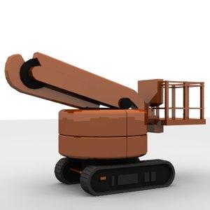 crane hitachi 3d model