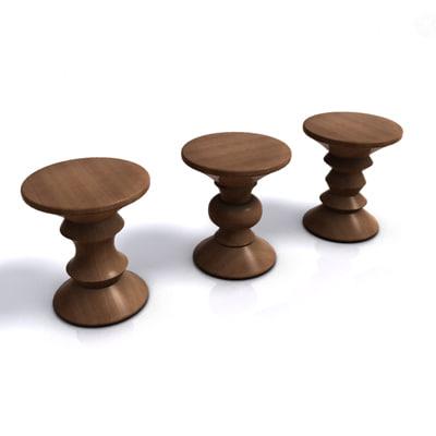 eames walnut stool x