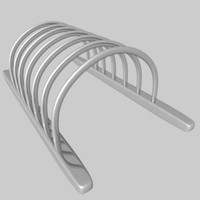 3d model cd dvd rack