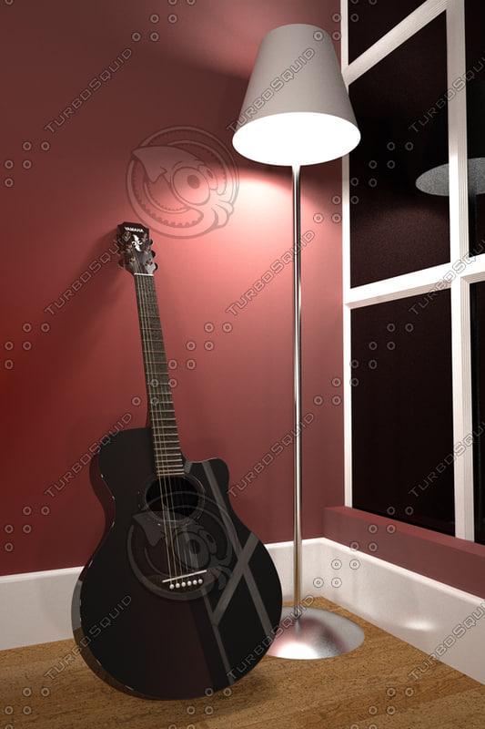 m acoustic guitar led