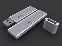 free usb flash drive 3d model