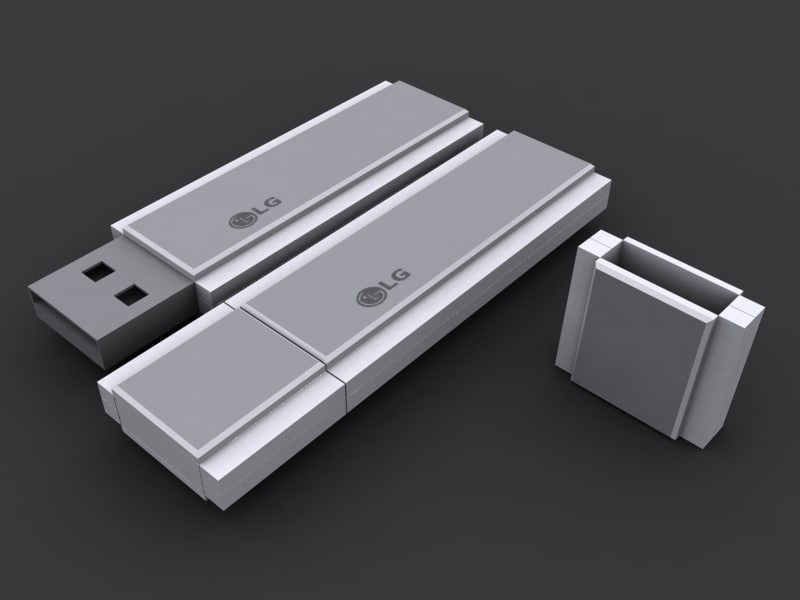 free usb flash drive 3d model