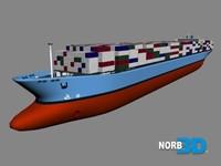 ship cargo vessel 3d model