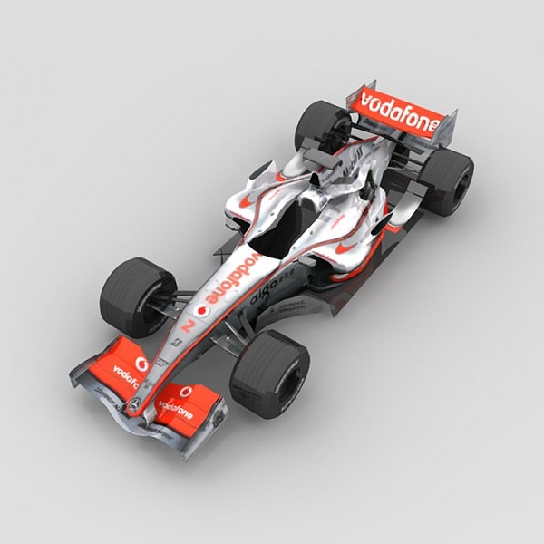 low-poly mclaren mp4-22 3d model