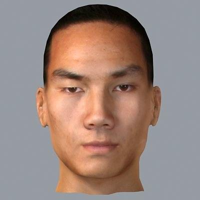 asian male head 3d max