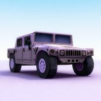 hummer h1 3d fbx