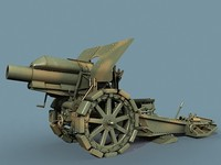 german howitzer wwi 3d model