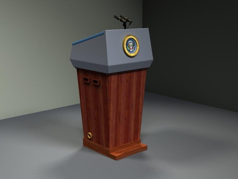 podium president 3d model