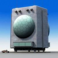 fps-05 military radar 3d x
