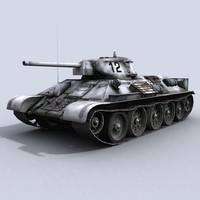 T-34/76 WWII Russian Tank