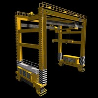 3ds rubber tire gantry crane