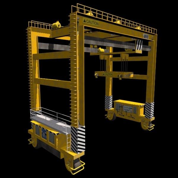 3ds rubber tire gantry crane