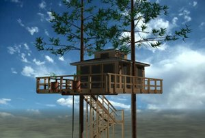 3ds max tree house