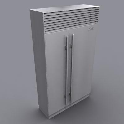3d model sub-zero refrigerator