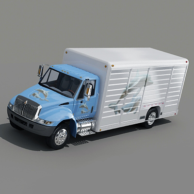 3d beverage truck model