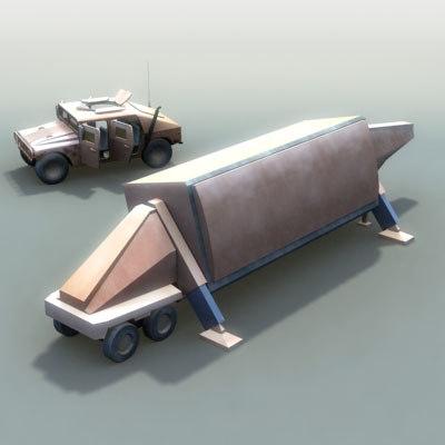fbx-t military radar 3d 3ds