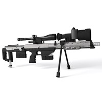 3d model amp technical sniper rifle