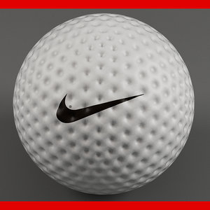 3d golfball modelled