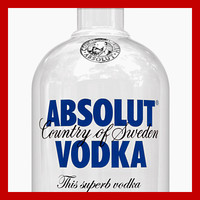 3d absolut vodka bottle