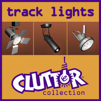 track lights 1 clutter 3d 3ds