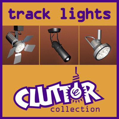 track lights 1 clutter 3d 3ds