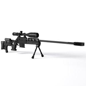 tpg-1 unique alpine rifle 3d model