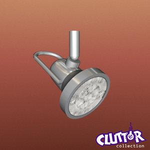 spotlight halogen light track 3d model