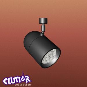3ds max spotlight halogen light track