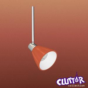 3d spotlight light track model