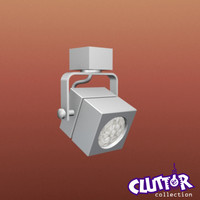 spotlight light track 3d model