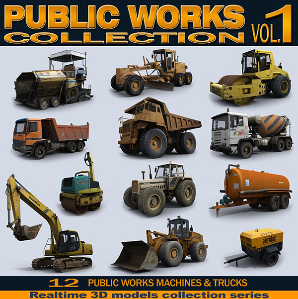 realtime machines construction public 3d model