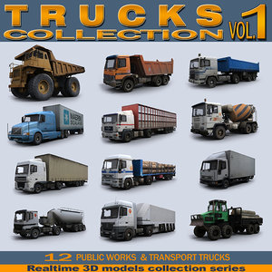 3d model realtime trucks vol 1