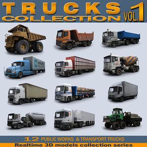 3d model realtime trucks vol 1