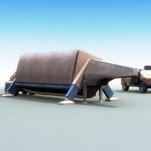 fbx-t military radar 3d model