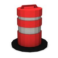 3ds traffic barrier