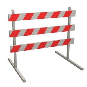 traffic barrier 3d 3ds