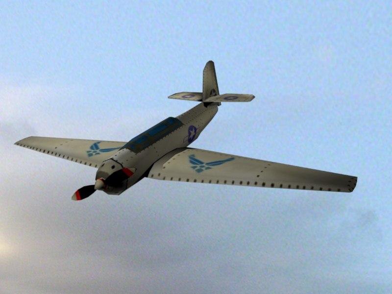 free 3ds model propeller plane