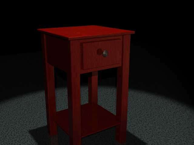 nightstand night stand 3d