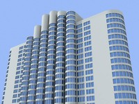 newyork residential building 3d model