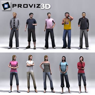 people: student 3d model