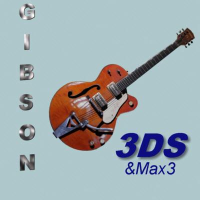 gibson guitar 3d model