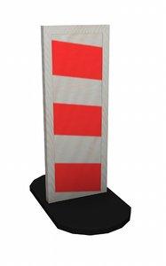 traffic barrier 3d model