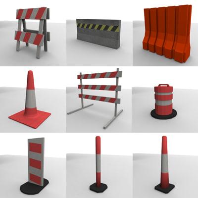 3d traffic barriers model