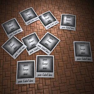 3d photo polaroid image model