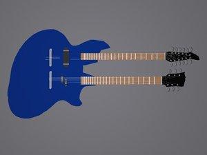 neck guitar 3d ma