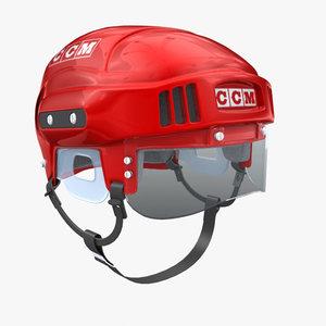 3d model ice hockey helmet