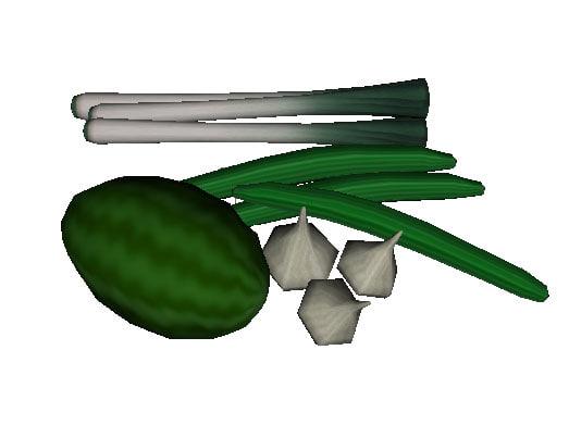 produce leek watermelon 3ds free